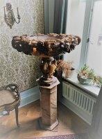 Urn - 19th Century Carved Alabaster Onyx Marble Urn on Stand (Cliveden provenance)