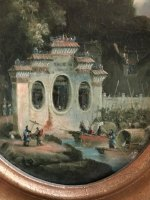 Pagoda scene II - One of a Pair - George Chinnery Circle - 18th Century