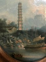 Pagoda scene I - One of a Pair - George Chinnery Circle - 18th Century