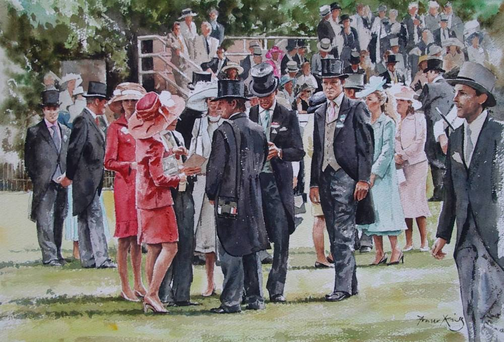 Royal Ascot 14x 21 Watercolour