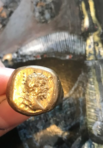 STUNNING ROMAN GOLD PORTRAIT RING OF EMPEROR MARCUS AURELIUS (now sold 1/6/19)