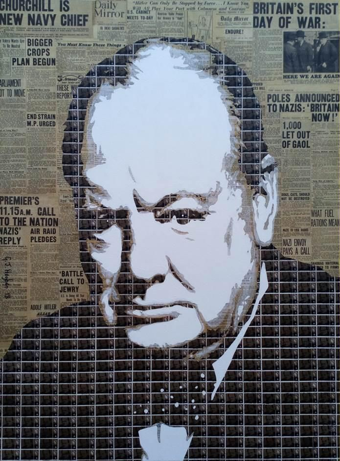 Churchill, first day of the war 40 x 30