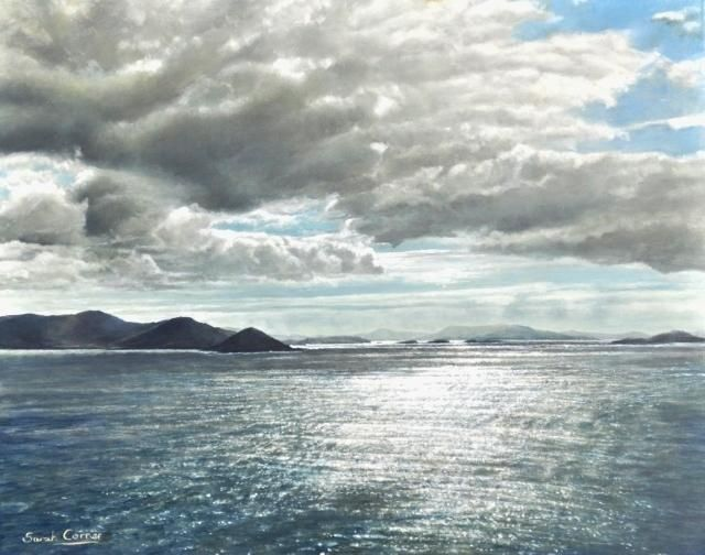 The Silver Sea oil on panel 16 x20 , County Kerry, Ireland