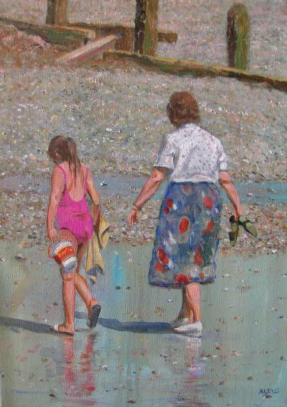 mother and daughter Brighton Beach
