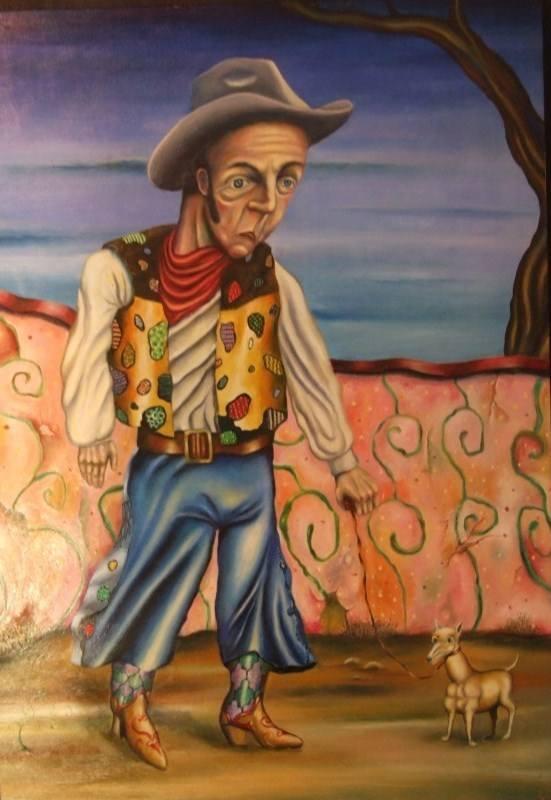 carlos cortes cowboy with dog