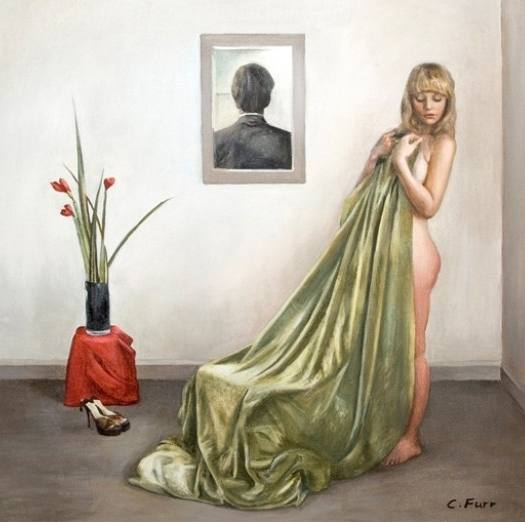 christian furr girl with the green cloth