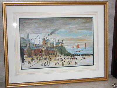 Original oil painting signed L S Lowry 1956 whitby (sold 23/12/09)