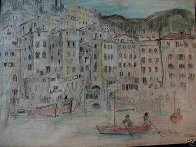 Harbour scene  Raoul Dufy