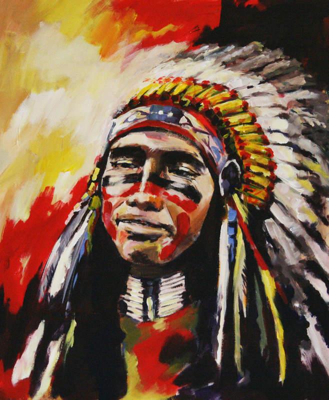 74_Marta Zawadzka_65x54cm_Indian in reverie