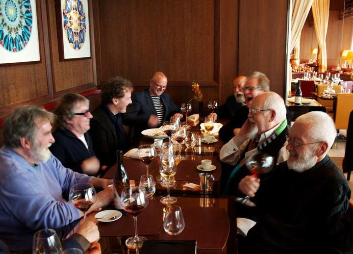 Christian Furr and Sir Peter Blake and artists at the new upgrade Dorcheste