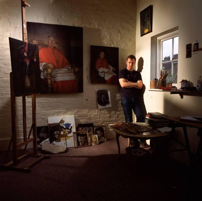 christian in his studio