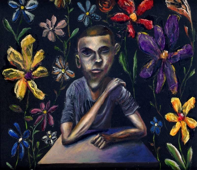 carlos cortes boy with flowers