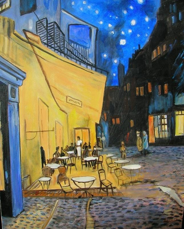 picasso cafe terrace at night 1888