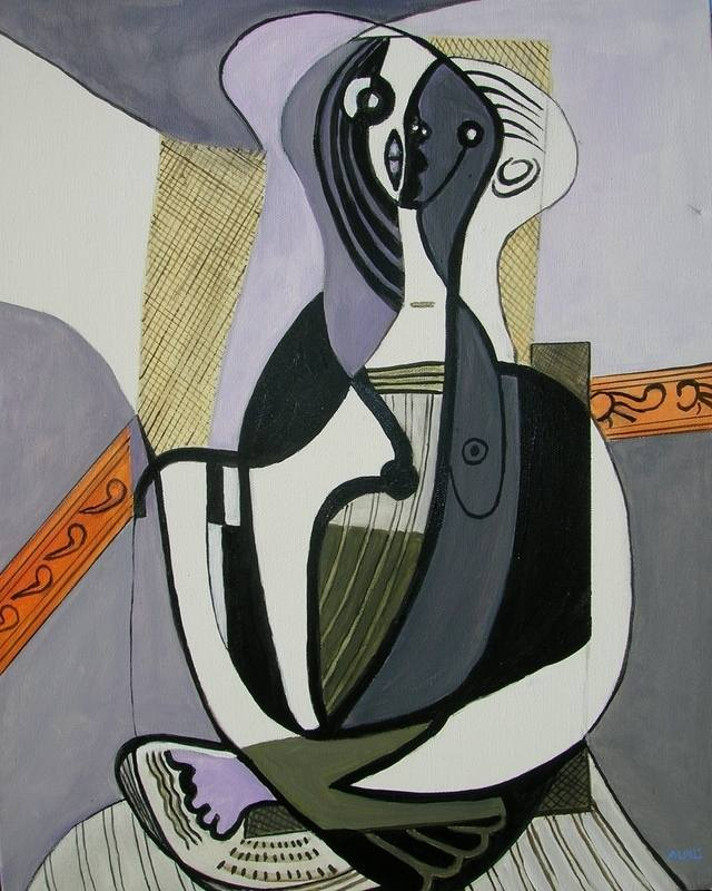 seated woman 1927 picasso