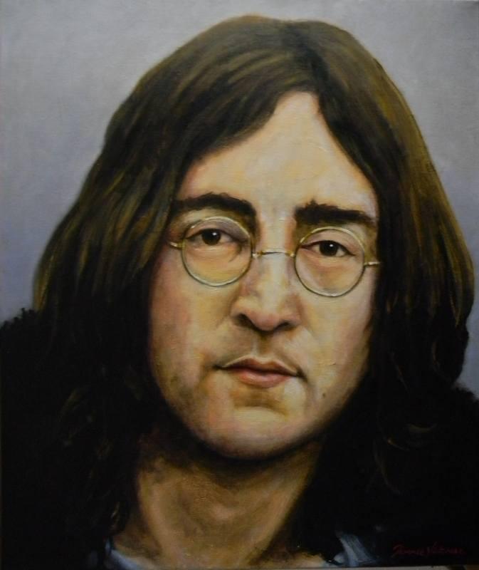 John Lennon 60s canvas terence vickress
