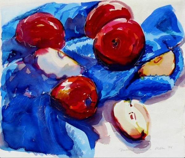 apples and blue