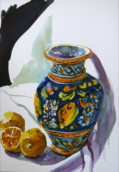 sicilian dreams watercolour