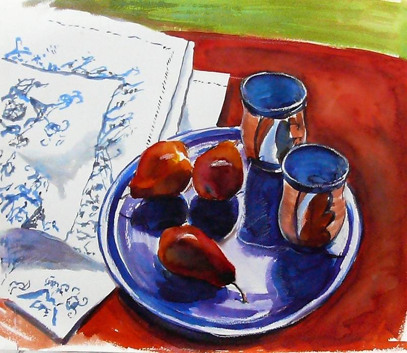 pears on blue ( Tutzing)