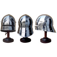 GERMAN SALLET WITH MOVEABLE NECK