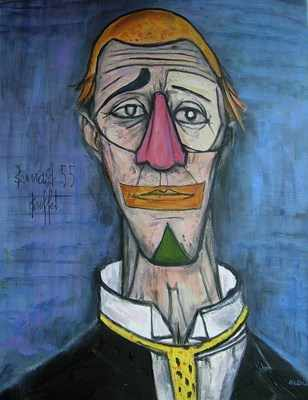 Magnificent Tete De Clown 1955 Bernard Buffet Reproduction By David Aldus Now Sold 31 8 10 Interior Design Ideas Apansoteloinfo
