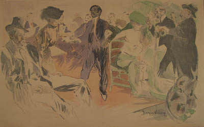 French Society Parisian Impressionist Lithograph by Jacques Villon