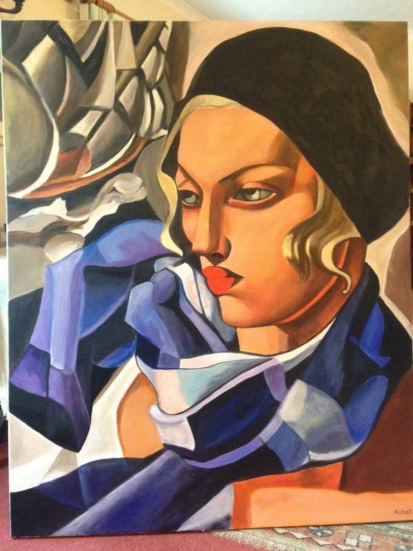 Lempicka non cropped Blue scarf