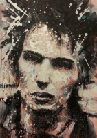 """Sid"" Sid Vicious (I - Black & White Series) by Marta Zawadzka (now sold)"