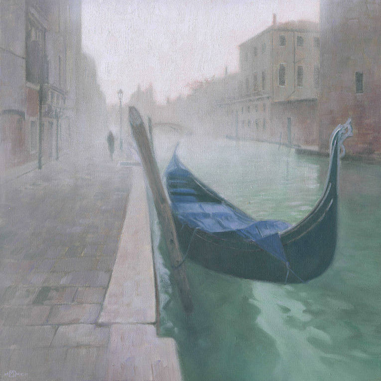 Cannaregio Fog 16 x 16 oil on canvas