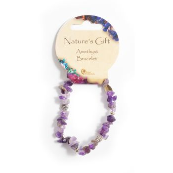 SET OF 20 Nature's Gift Amethyst Gemchip Bracelet