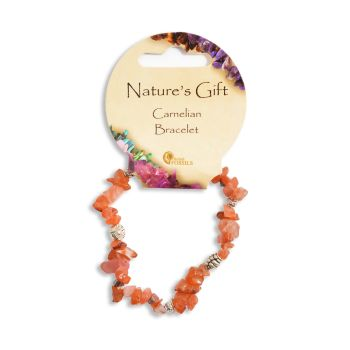 SET OF 20 Nature's Gift Carnelian Gemchip Bracelet