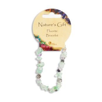 SET OF 20 Nature's Gift Fluorite Gemchip Bracelet