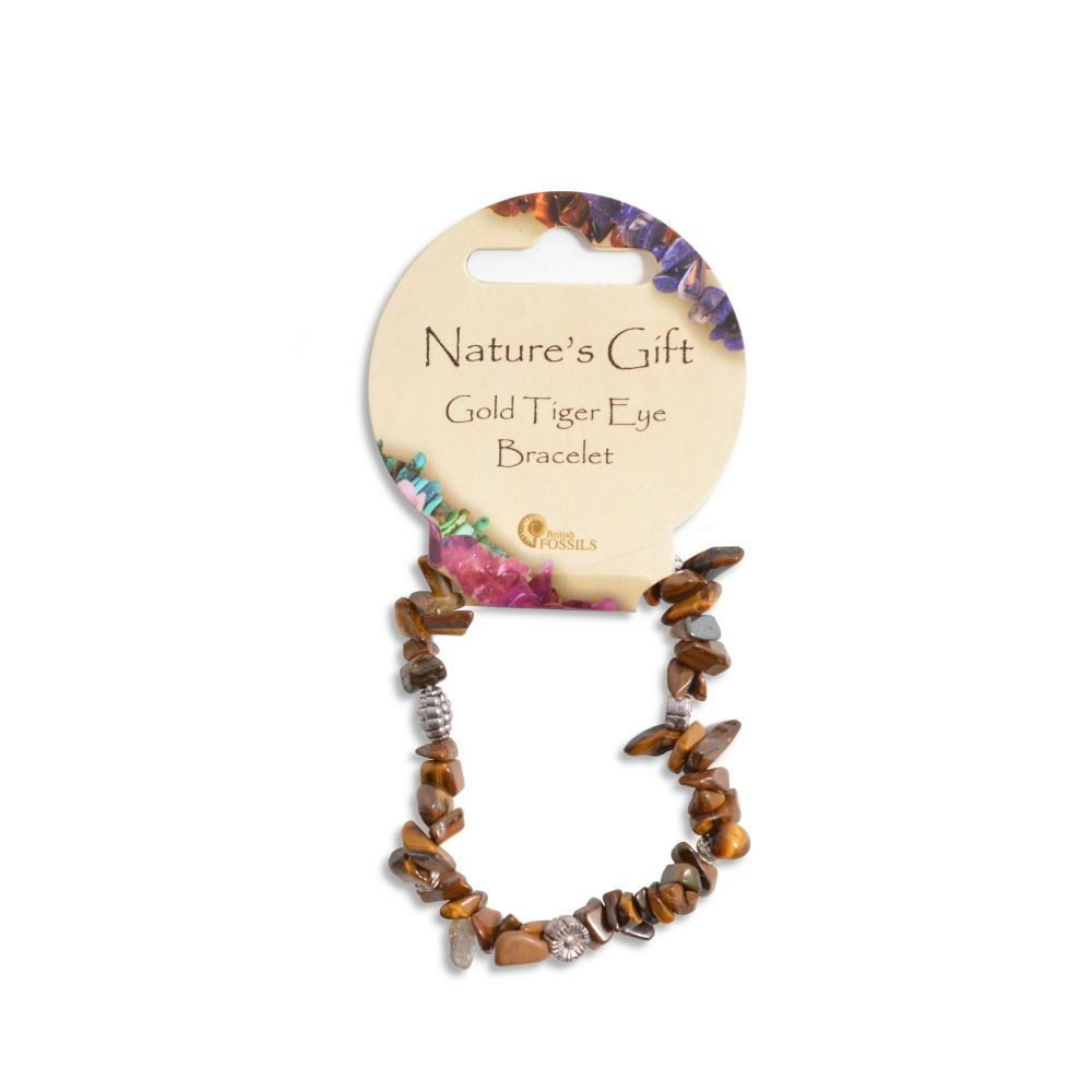 SET OF 20 Nature's Gift Gold Tiger Eye Gemchip Bracelet