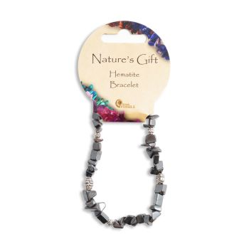 SET OF 20 Nature's Gift Hematite Gemchip Bracelet