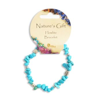 SET OF 20 Nature's Gift Howlite Gemchip Bracelet