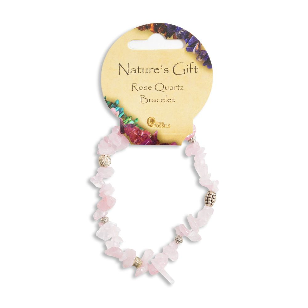 SET OF 20 Nature's Gift Rose Quartz Gemchip Bracelet