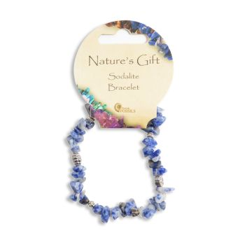 SET OF 20 Nature's Gift Sodalite Gemchip Bracelet