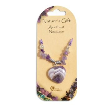 SET OF 20 Nature's Gift Amethyst Heart Necklaces