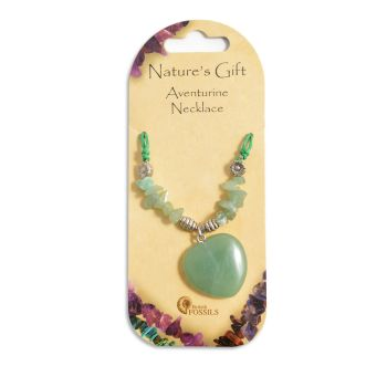 SET OF 20 Nature's Gift Aventurine Heart Necklaces