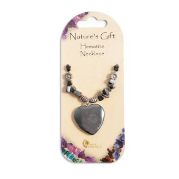 SET OF 20 Nature's Gift Hematite Heart Necklaces