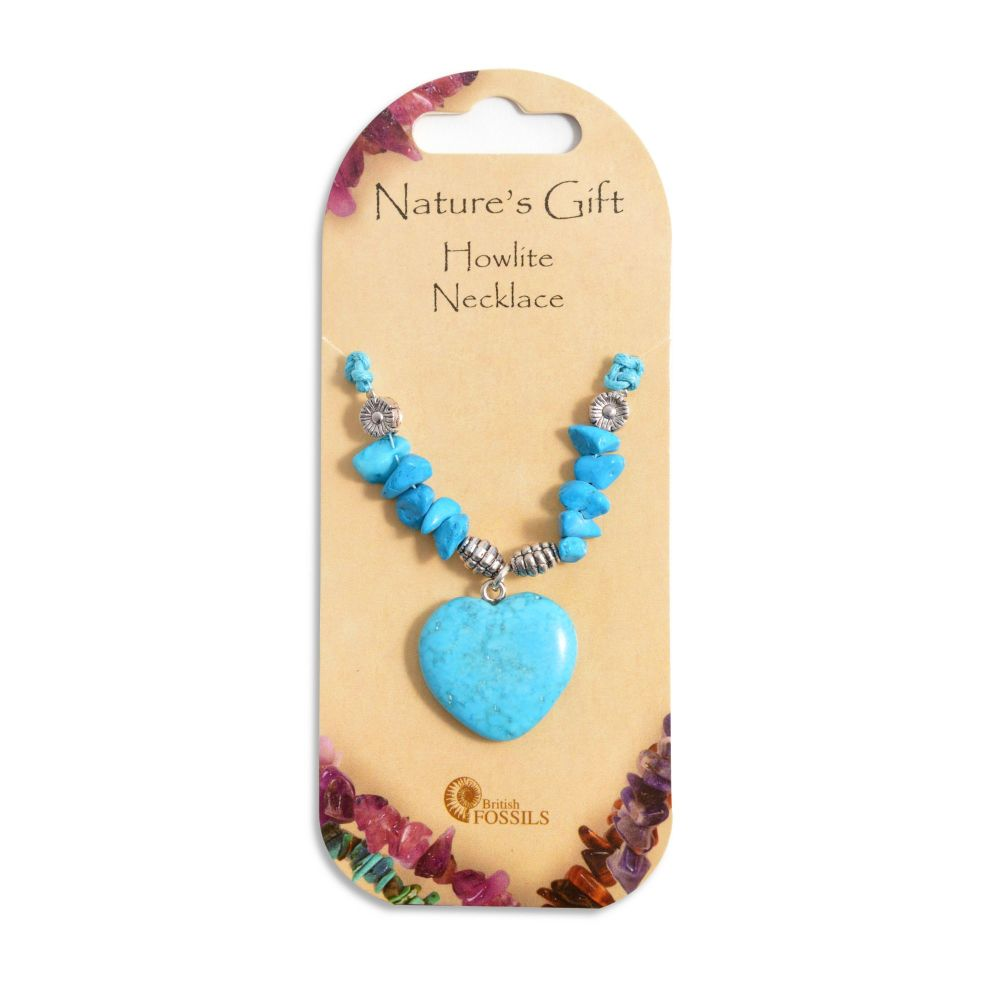 SET OF 20 Nature's Gift Howlite Heart Necklaces