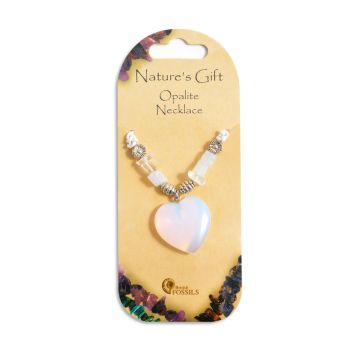 SET OF 20 Nature's Gift Opalite Heart Necklaces