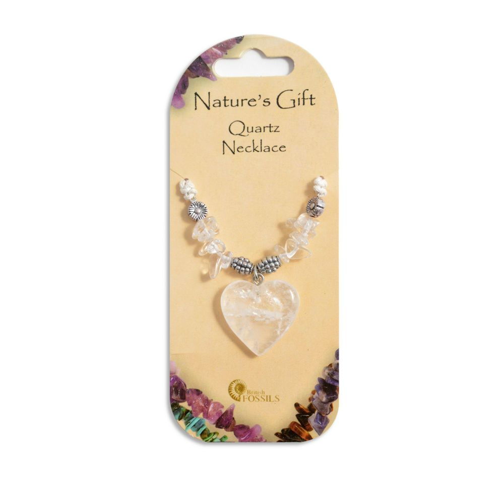 SET OF 20 Nature's Gift Quartz Heart Necklaces