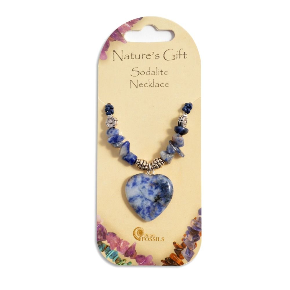 SET OF 20 Nature's Gift Sodalite Heart Necklaces