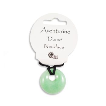 SET OF 20 Aventurine Gemstone Donut Pendant