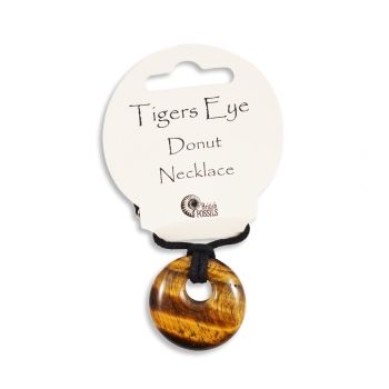 SET OF 20 Gold Tiger Eye Gemstone Donut Pendant