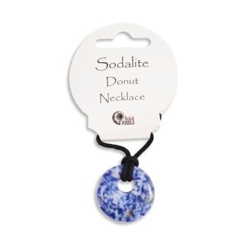 SET OF 20 Sodalite Gemstone Donut Pendant