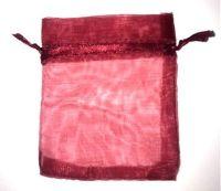 10 x Burgundy 7cm x 9 cm Organza Gift Bags