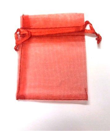 10 x Red 7cm x 9 cm Organza Gift Bags