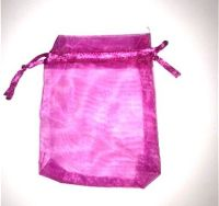 10 x Magenta 7cm x 9 cm Organza Gift Bags