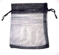 10 x Black  10cm x 12cm Organza Gift Bags